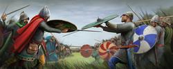 The Saxons fight the Carolingians