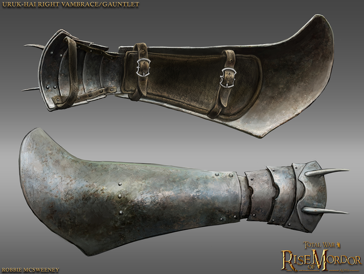 Uruk Pike Vambrace Right