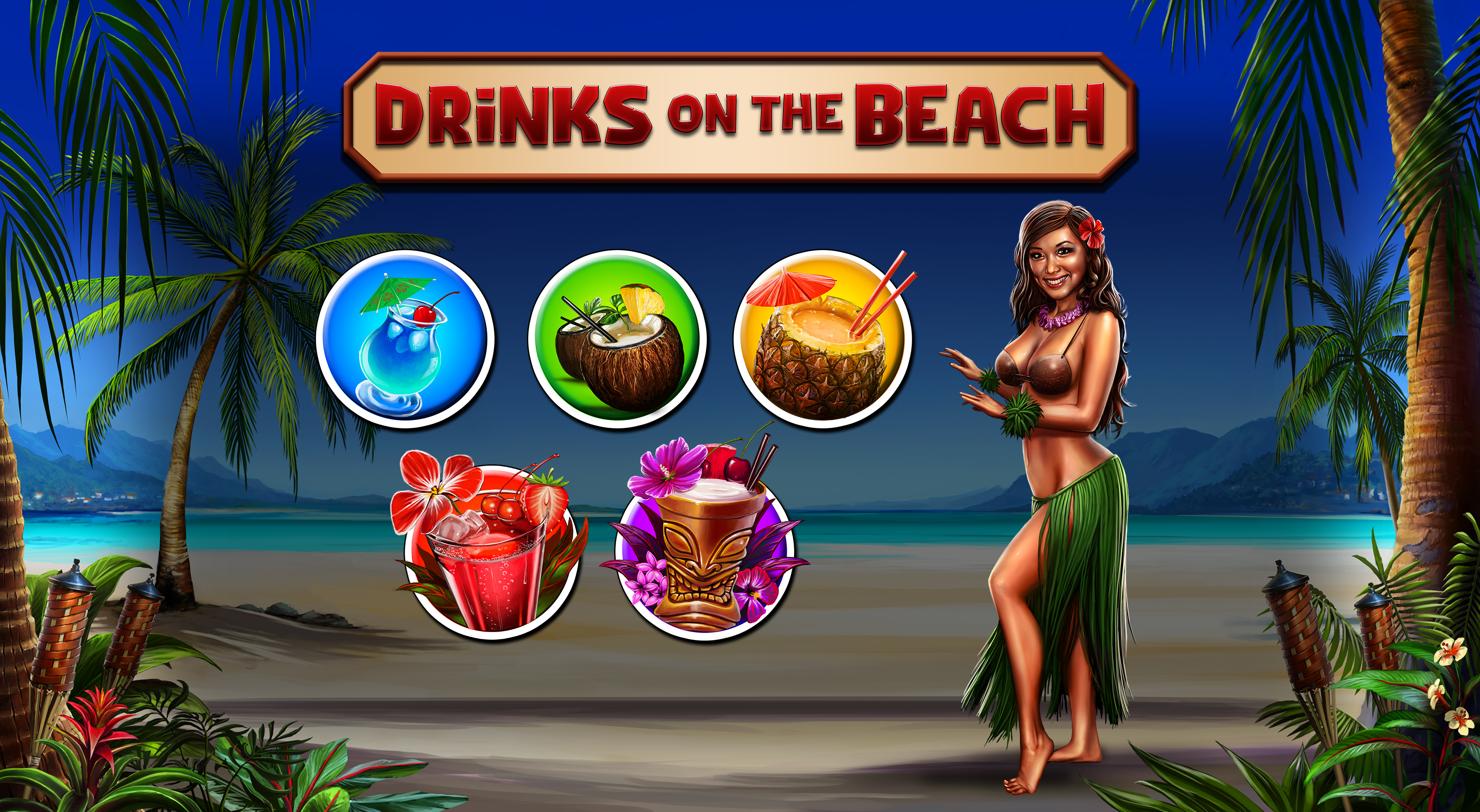 Drinks on the Beach symbols