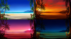 Drinks on the Beach Backgrounds