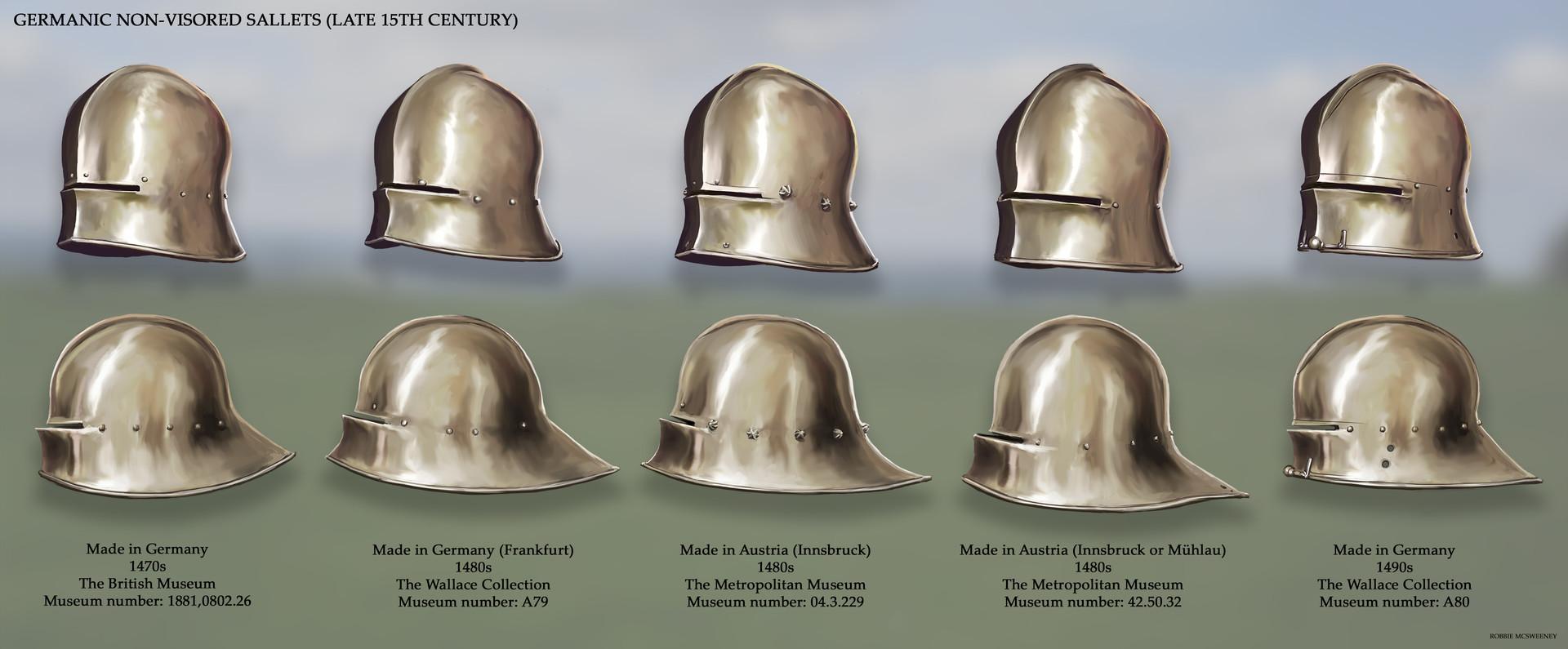 Germanic Non-Visored Sallets