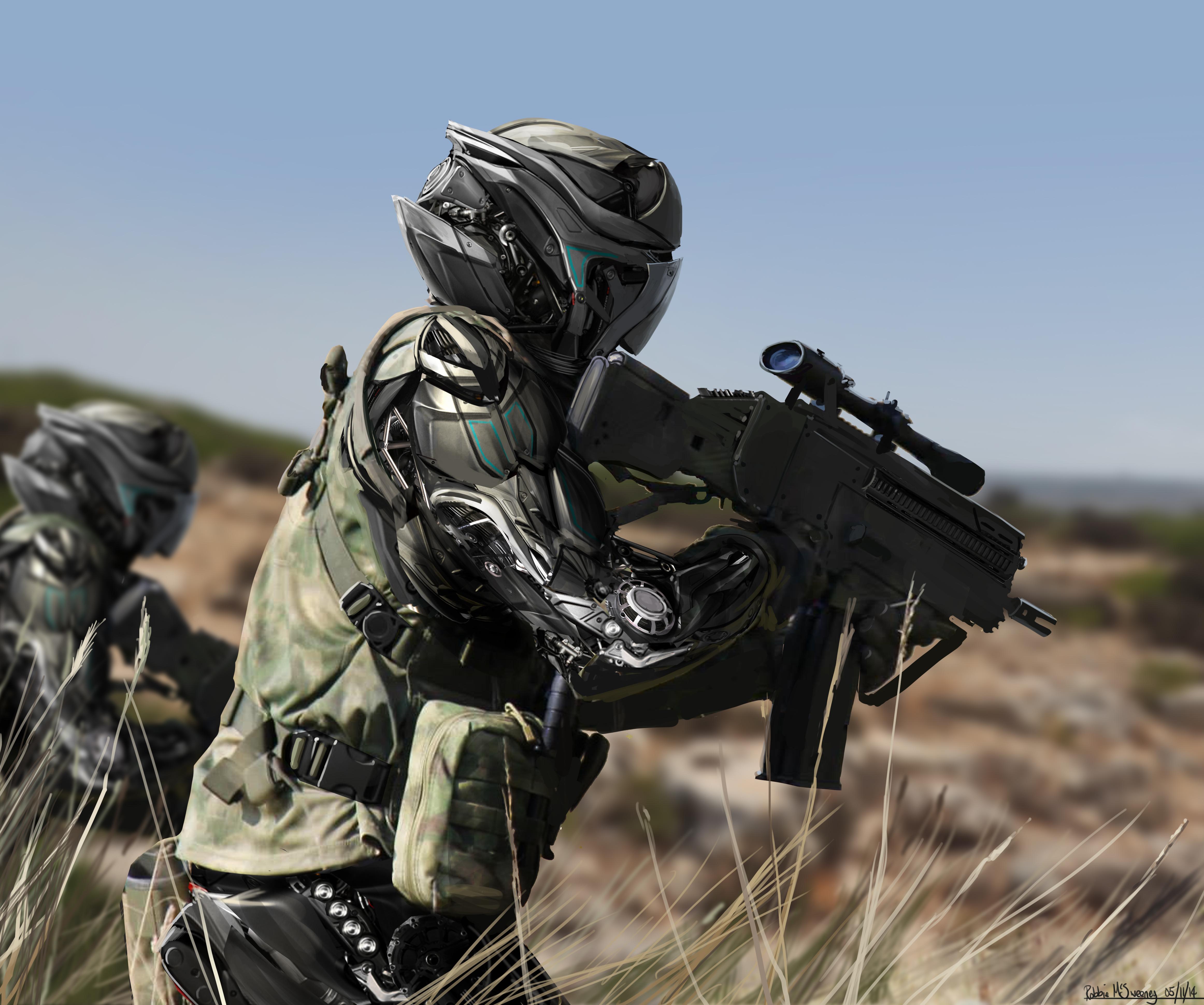 Futuristic Sci-fi soldier II