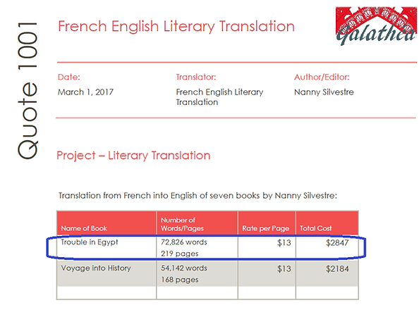 Submission cost translation novel Troubl