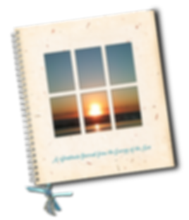 Gratitude Journal with ocean pictures