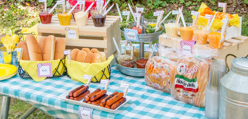 Create-Your-Own Hot Dog Bar!