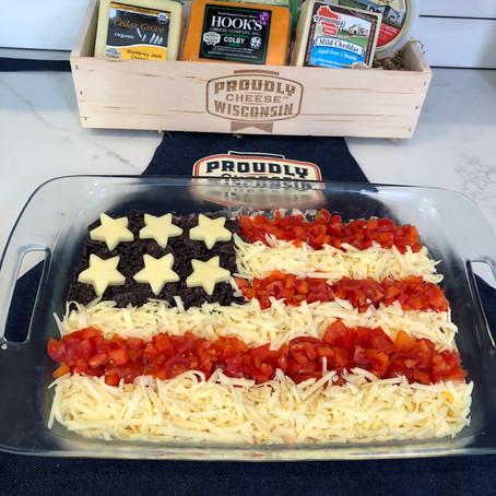 American Flag Taco Dip