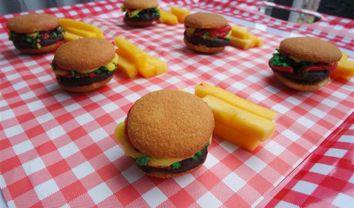 How To Make Burger & Fries Cookies