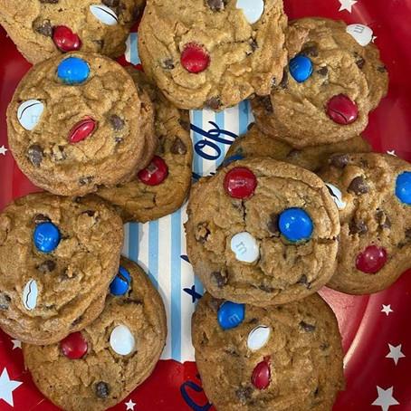 Firework Chocolate Chip Cookies