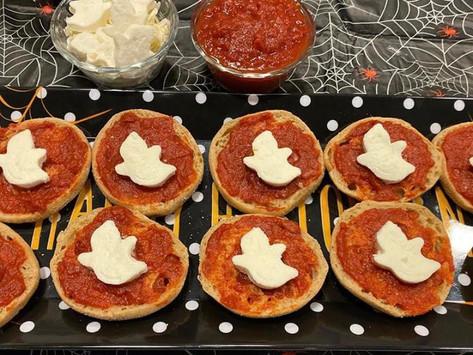 Halloween English Muffin Pizza!