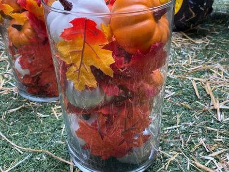 Fall Decor: Pumpkin Center Piece