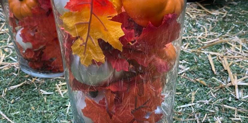 Fall Decor: Pumpkin Center Piece