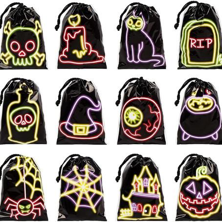 Six Halloween Treat Bags