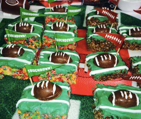 Mini Marshmallow Football Treats