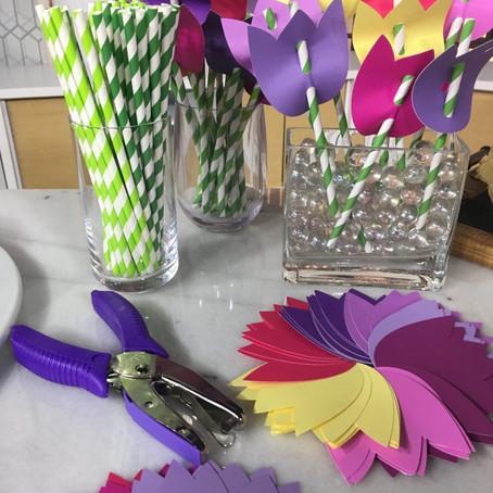 DIY: Tulip Paper Straws