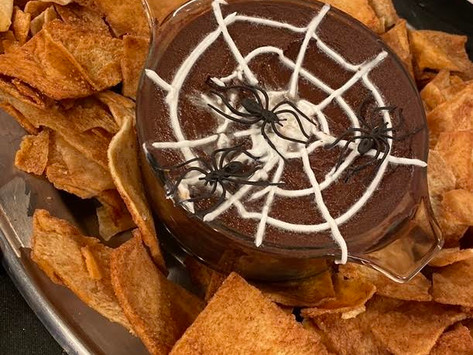 Spider Web Black Bean Dip!