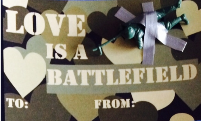 Love Is A Battlefield: Valentine's Day Craft
