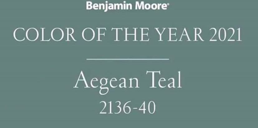 The Benjamin Moore 2021 Color of the Year: Aegean Teal!