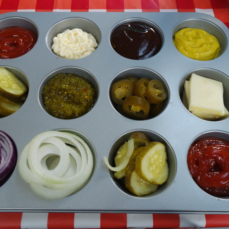 Hosting Hack: Muffin Pan for Condiments