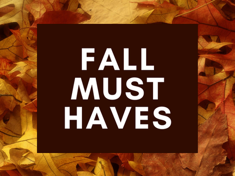 Top 3 Fall Must Haves!