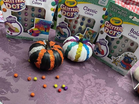 Fall Decor: Glitter Pumpkins