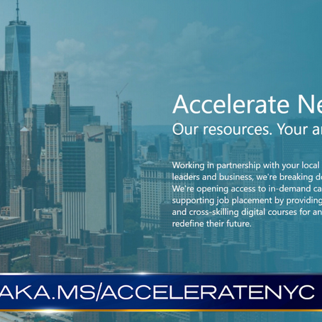 Microsoft Launches Accelerate NY to Help Get New Yorkers Back to Work