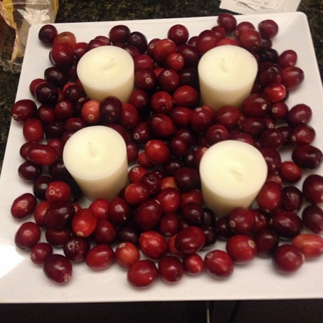 Thanksgiving Decor: Cranberry Candles