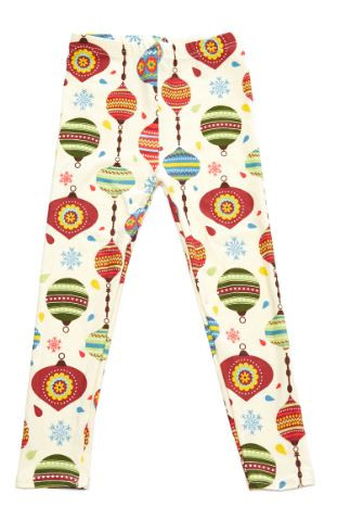 257574f6153f53 KIDS: Christmas Print Yummy Brushed Ankle Leggings ...