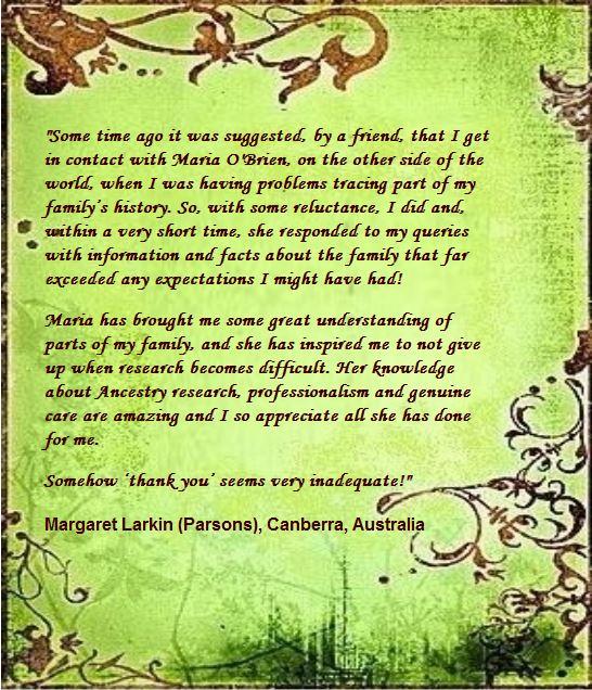 Margaret Larkin (Parsons) Au