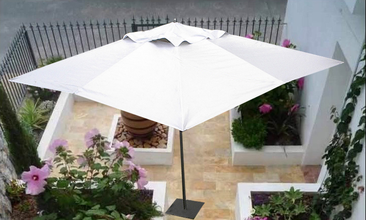 Sombrilla cuadrada en sunbrella