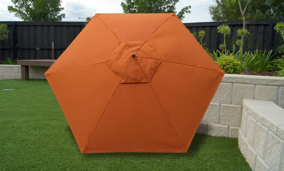 Sombrilla colonial en sunbrella