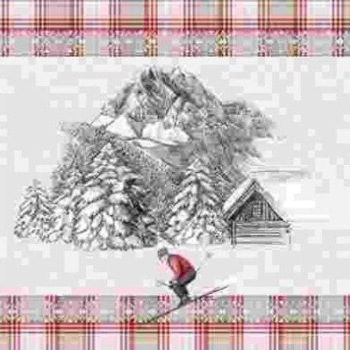 Torchon cuisine skieur