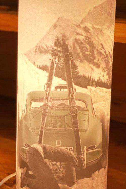 Lampe voiture skis vintage 39cm