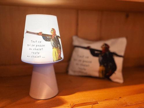 Lampe «usb» texte chalet, 20cm