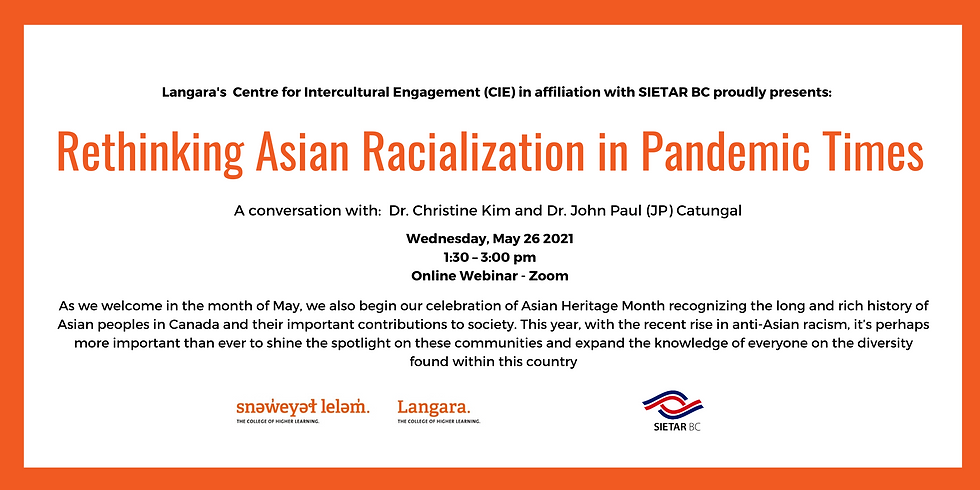 Rethinking Asian Racialization in Pandemic Times