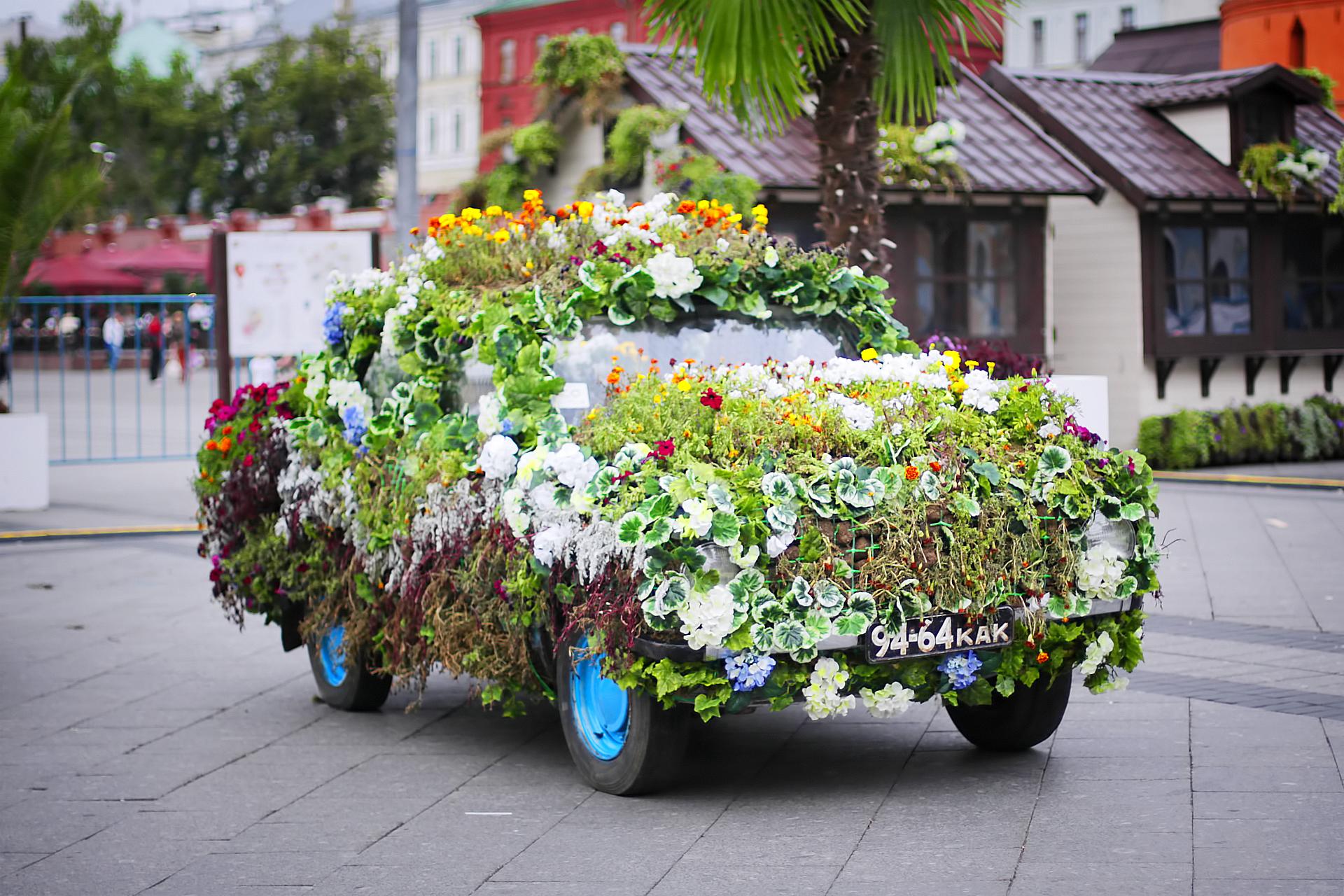 Цветочное авто.