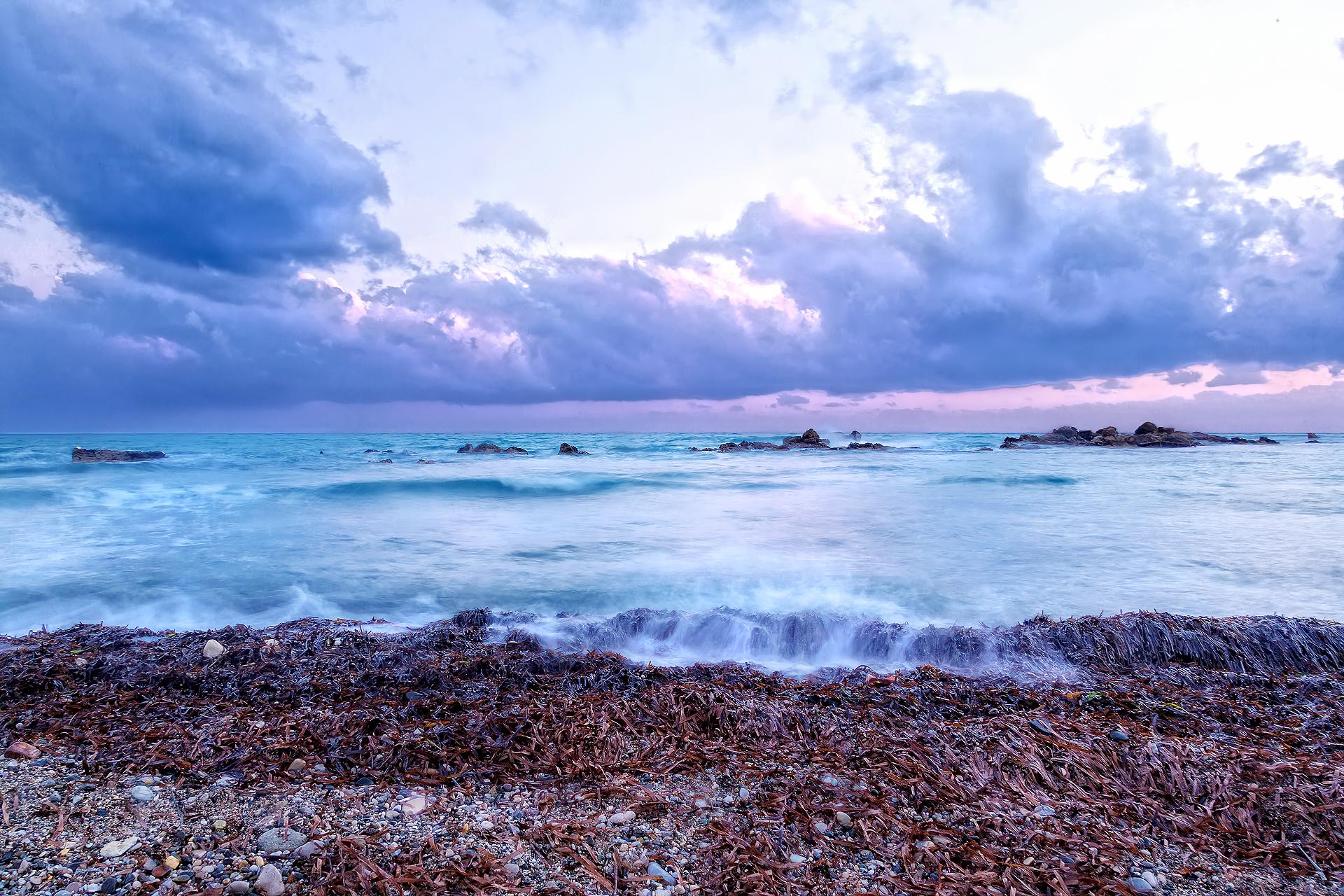 Закат на Кипре.
