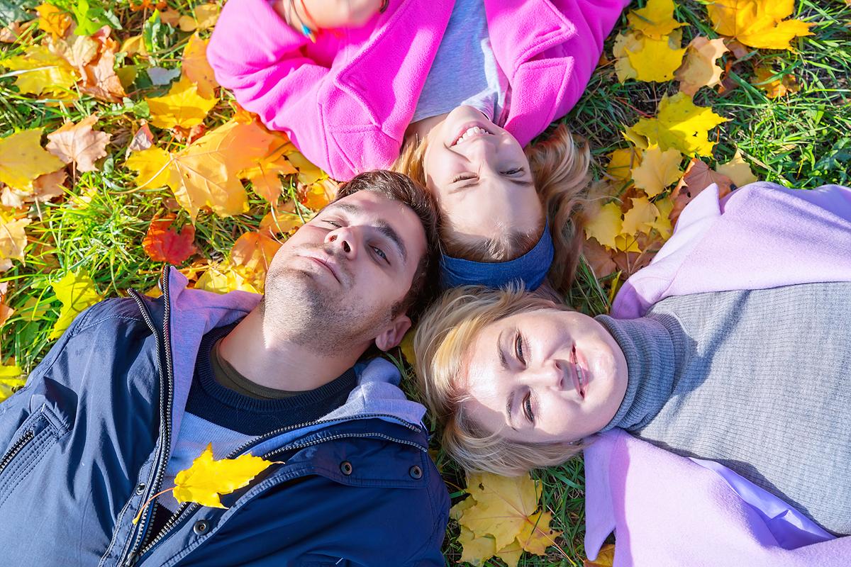Золотая осень. Семья.