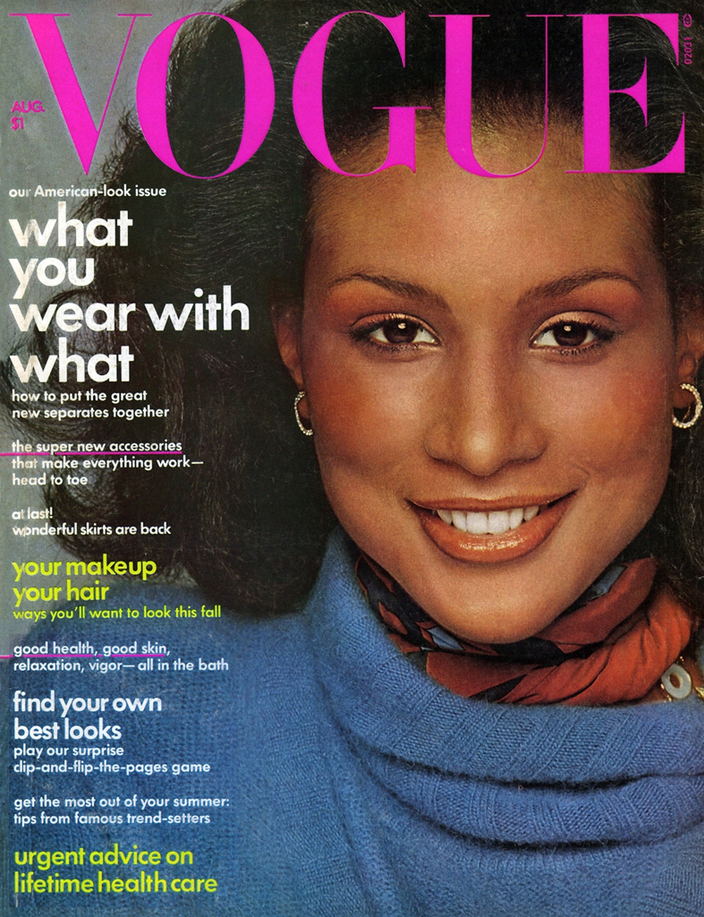 Beverly Johnson, was the first Black model on the cover of Vogue Magazine, 1974