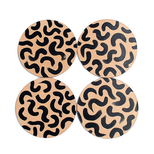 Squiggle Coasters - Set of 4