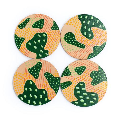 Autumn Marsh Coasters - Set of 4