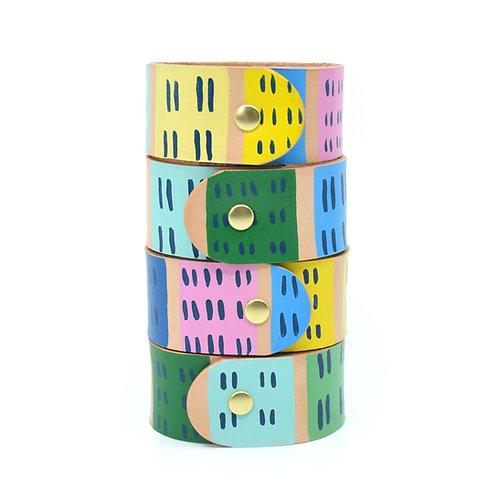 Rainbow Row Napkin Rings - Set of 4