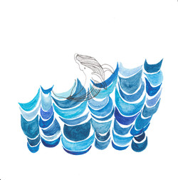 Whale Playin Ocean by originalizzie