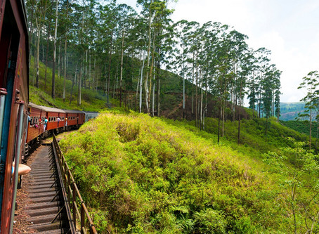 Travelling through Sri Lanka by Train