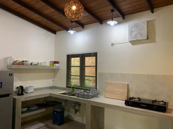 Kitchen with cooking and dining facilities