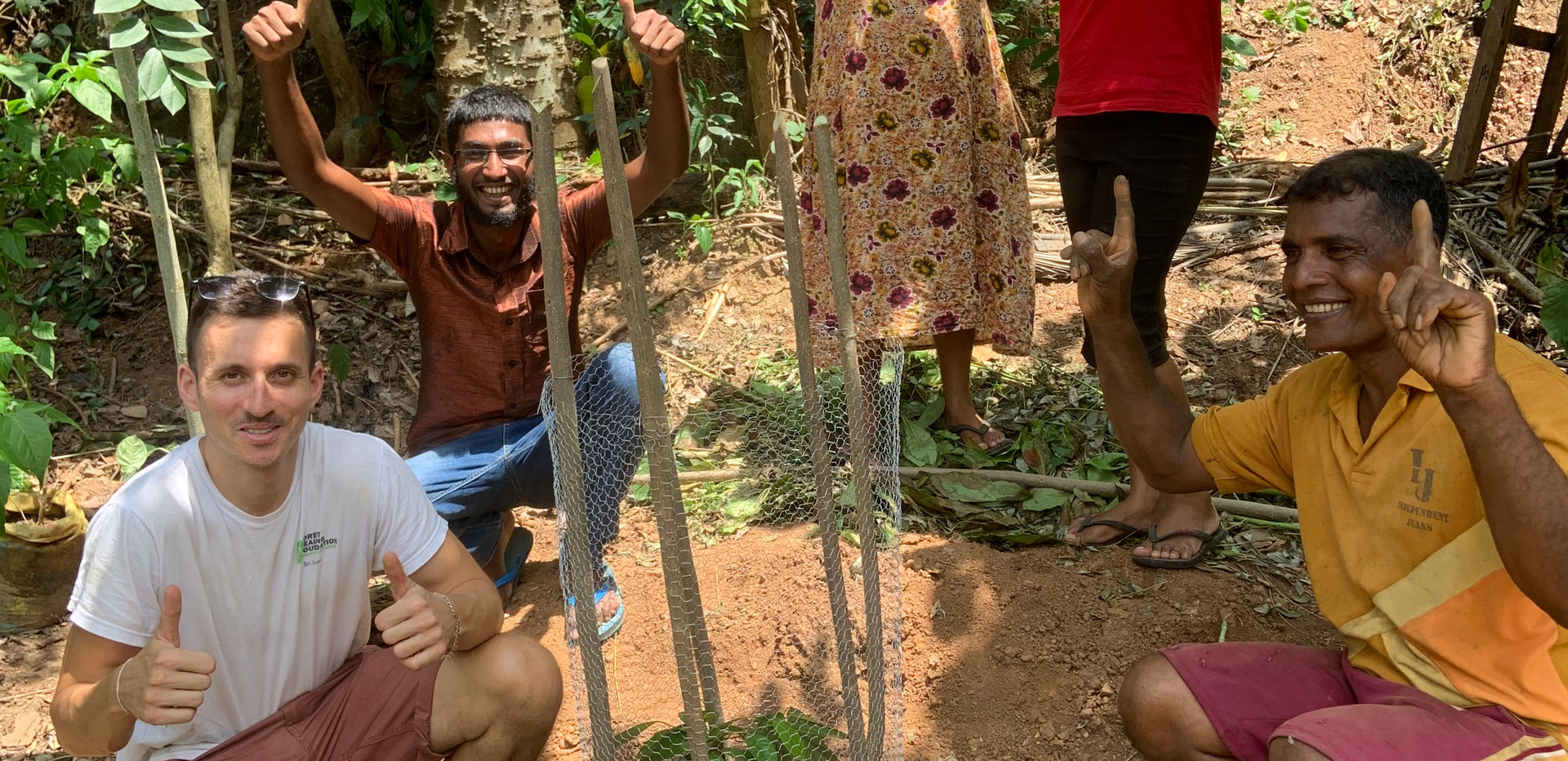 Celebrating the first tree planted