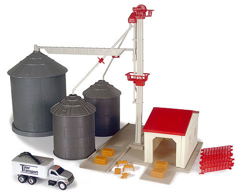 Toy grain elevator set