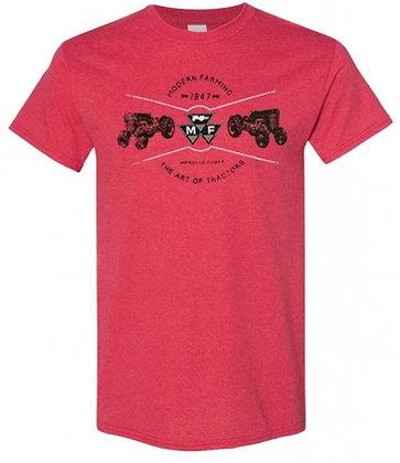 T-shirt Massey Ferguson Vintage Heather Rouge