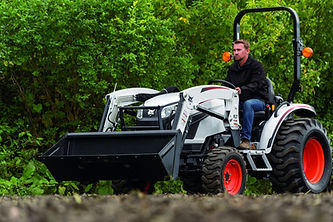 Bobcat compact tractor with front end loader