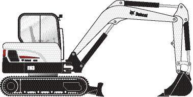 Excavatrice Bobcat E63