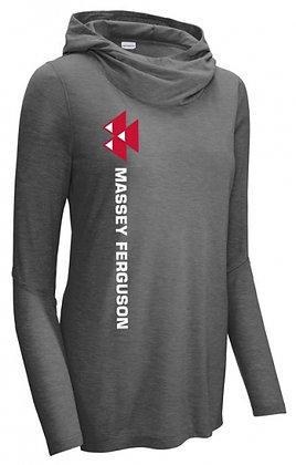 T-shirt à capuche Massey Ferguson en trois mélanges pour femmes